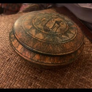 Small clay trinket box from Greece
